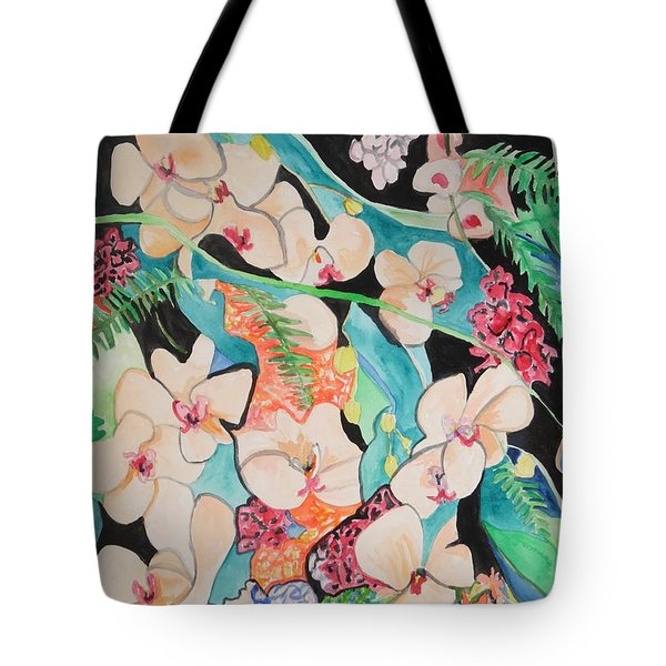 The Gallery Of Orchids 1 Tote Bag by Esther Newman-Cohen