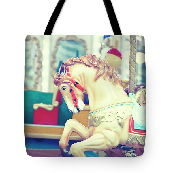 The Galloper - Paris Carousel Print Tote Bag by Melanie Alexandra Price