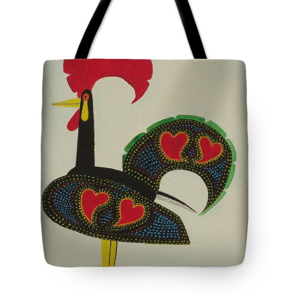 Tote Bag featuring the painting The Galo De Barcelos by Hilda and Jose Garrancho