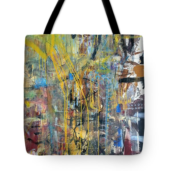 Tote Bag featuring the painting The Gamble Or Deconstructed Fish by Robert Anderson