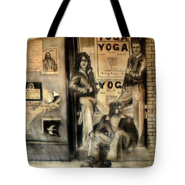 Tote Bag featuring the drawing The Gang by Albert Puskaric