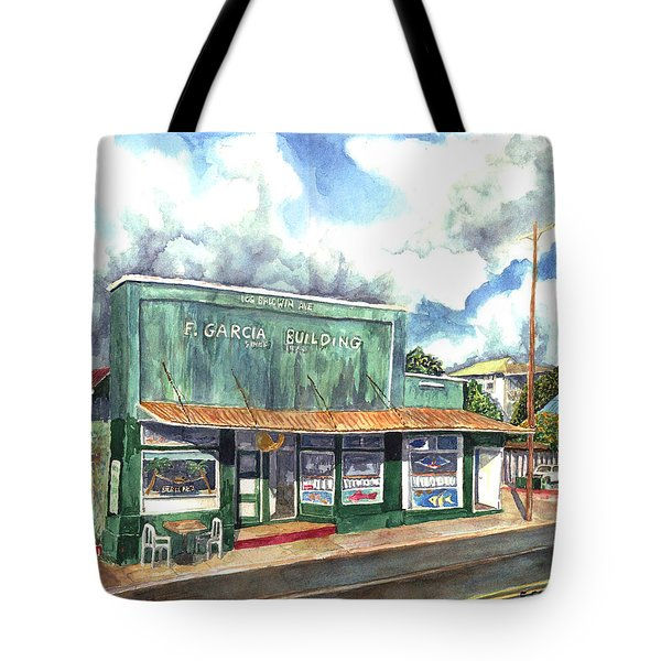 The Garcia Building Tote Bag by Eric Samuelson