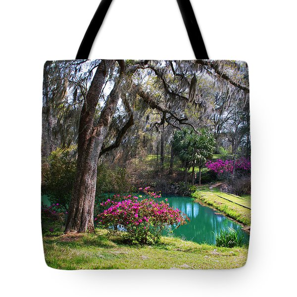 The Garden In The Abbey Tote Bag by Susanne Van Hulst
