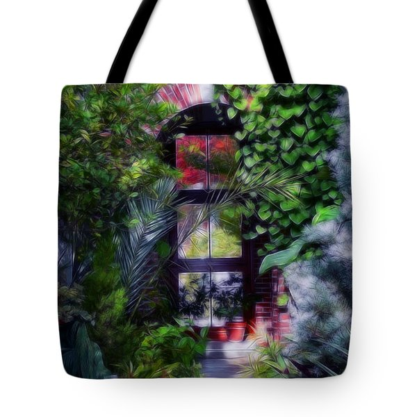 Tote Bag featuring the photograph The Garden by Michele A Loftus