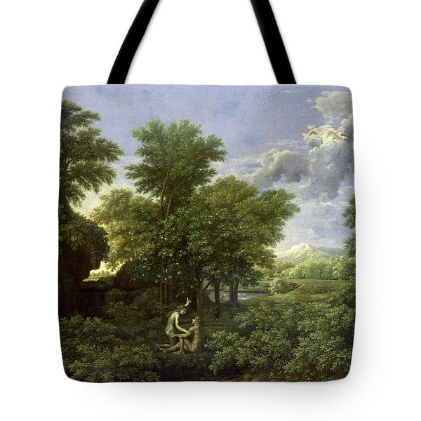 The Garden Of Eden Tote Bag by Nicolas Poussin