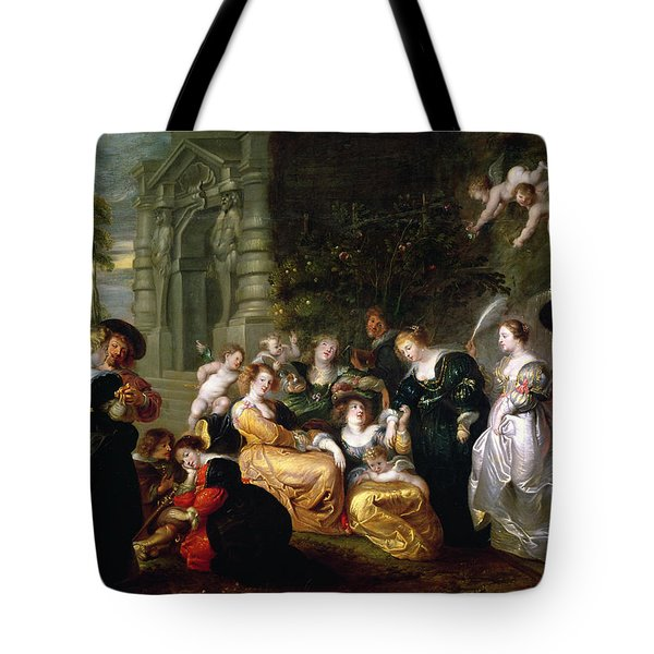 The Garden Of Love Tote Bag by Peter Paul Rubens