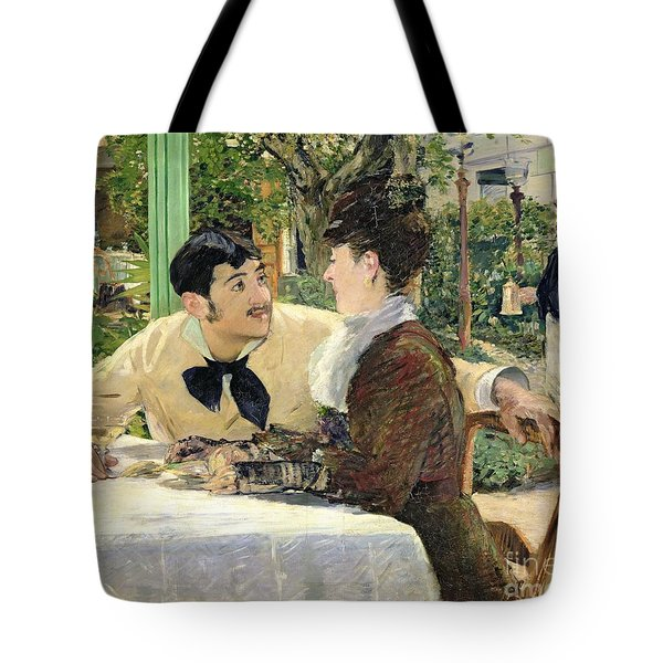 The Garden Of Pere Lathuille Tote Bag by Edouard Manet