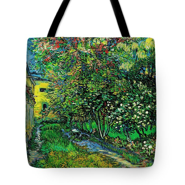 The Garden Of The Asylum At Saint-remy Tote Bag