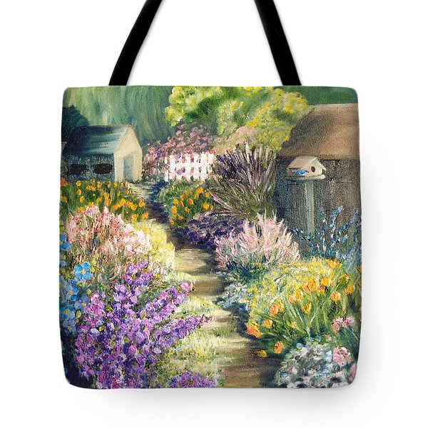 The Garden Path Tote Bag by Renate Nadi Wesley
