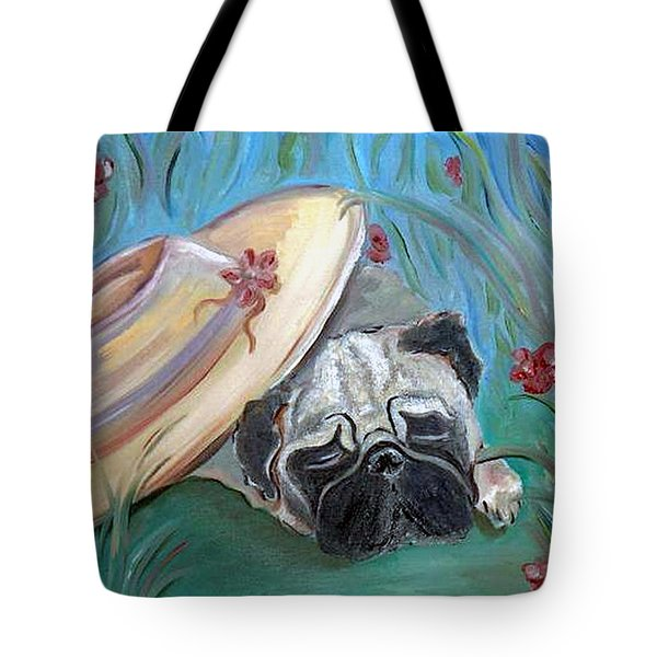 The Garden Pug Tote Bag