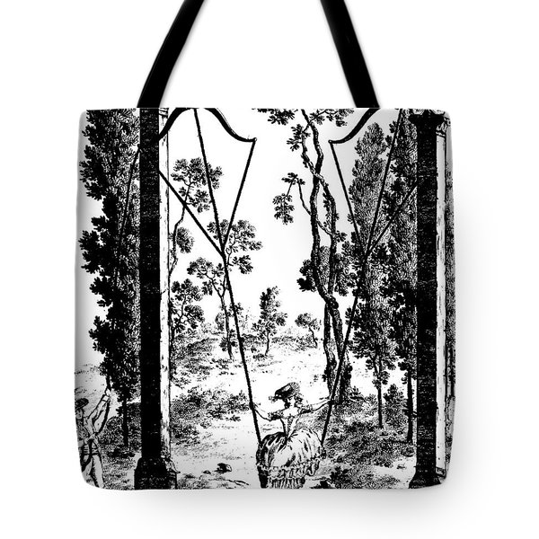 The Garden Swing At Rambouillet Tote Bag