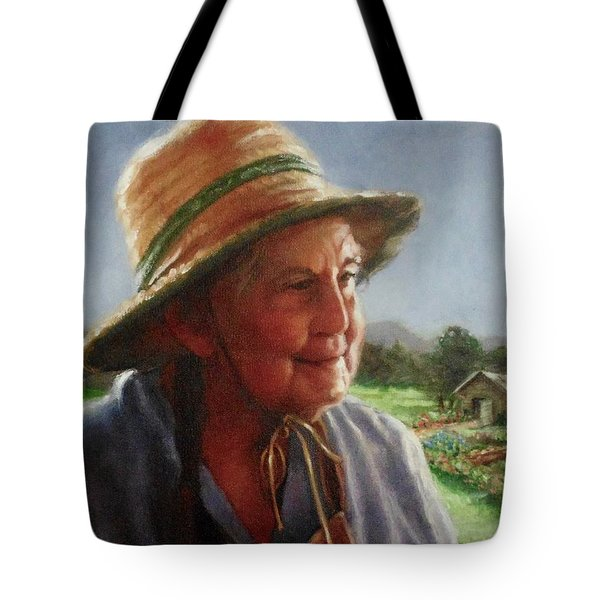 The Gardener Tote Bag by Janet McGrath