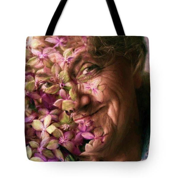 The Gardener Tote Bag by Jean OKeeffe Macro Abundance Art