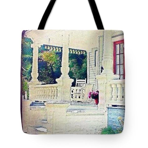 The Gate Porch And The Lamp Post Tote Bag