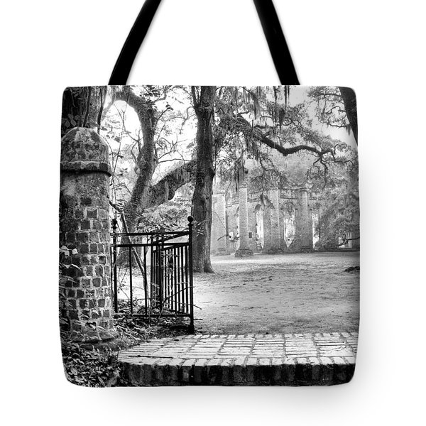 The Gates Of The Old Sheldon Church Tote Bag