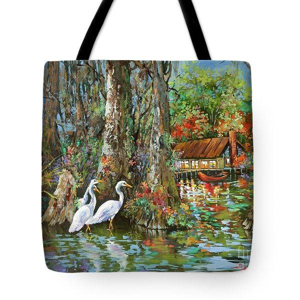 The Gathering - Louisiana Swamp Life Tote Bag