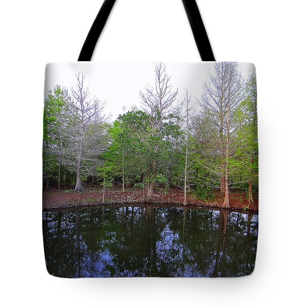The Gator Hole At Green Cay In Florida Tote Bag
