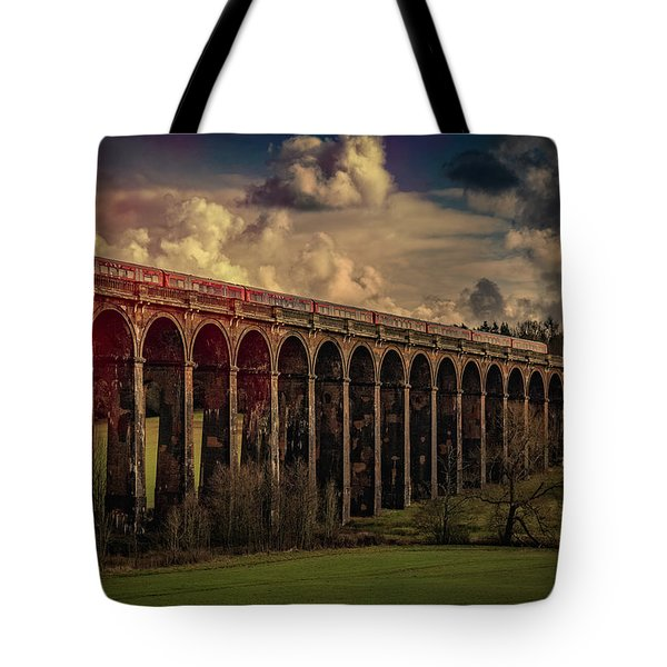 Tote Bag featuring the photograph The Gatwick Express by Chris Lord