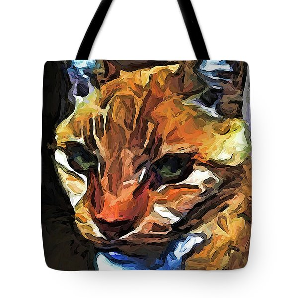 The Gaze Of The Gold Cat Tote Bag
