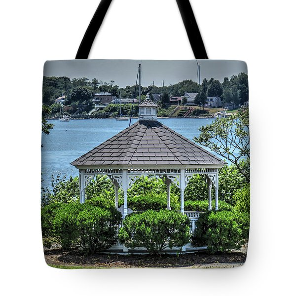 Tote Bag featuring the photograph The Gazebo by Tom Prendergast