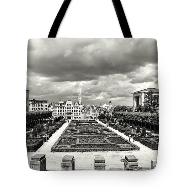The Geometric Garden In Black And White Tote Bag