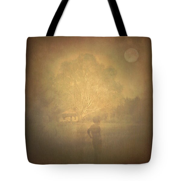 The Ghost Turns Away Tote Bag