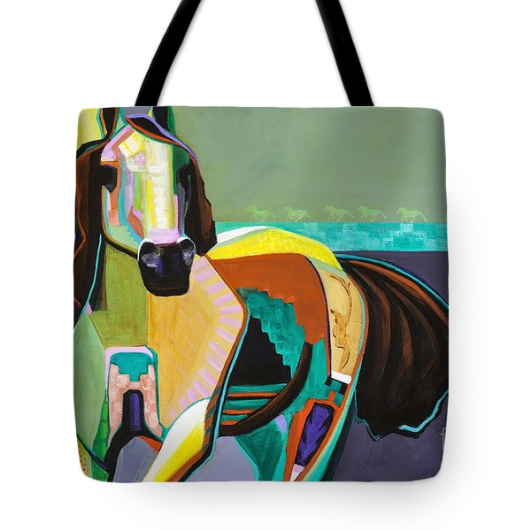 Tote Bag featuring the painting The Gift by Frances Marino