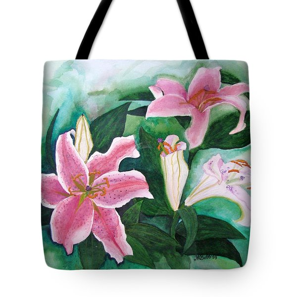 Tote Bag featuring the painting The Gift by Margaret Bobb