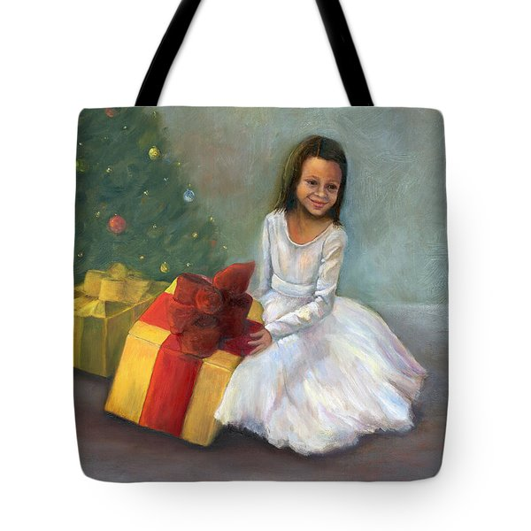 Tote Bag featuring the painting The Gift by Marlene Book