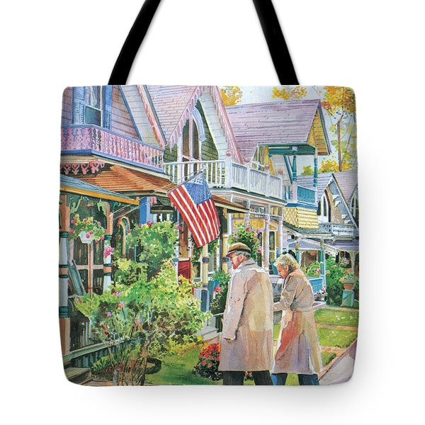 The Gingerbread Cottages Tote Bag