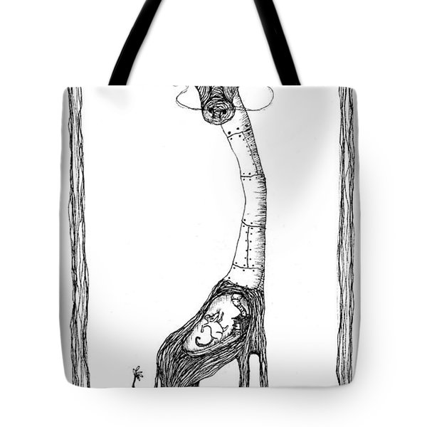 The Giraffe And The Rat Tote Bag by Zelde Grimm