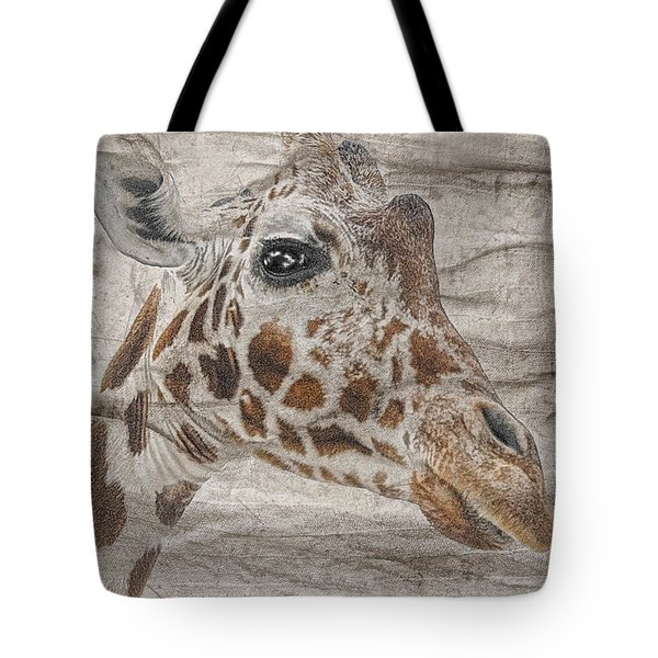 Tote Bag featuring the photograph The Giraffe  by Dyle   Warren