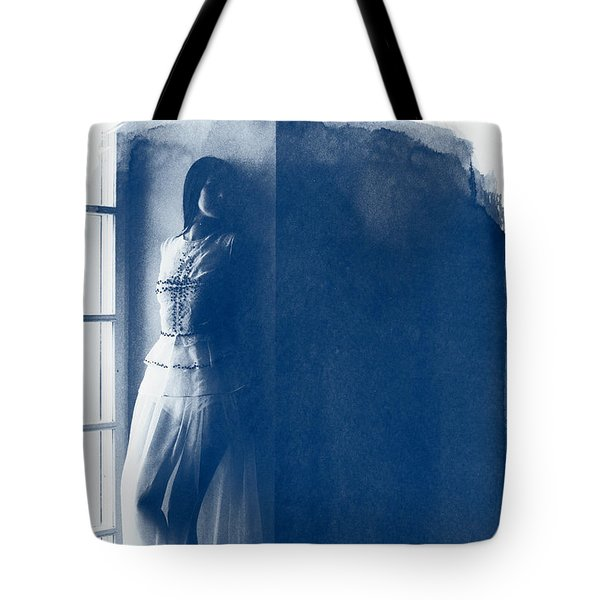 The Girl At The Window. Tote Bag
