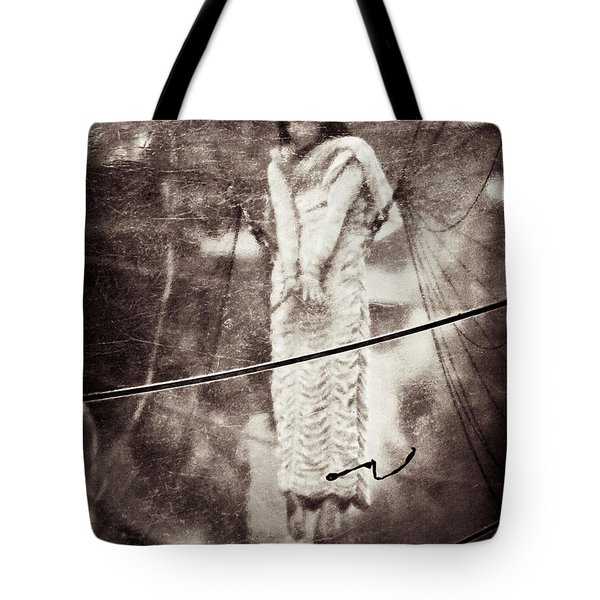 The Girl In The Bubble Tote Bag by Dave Bowman
