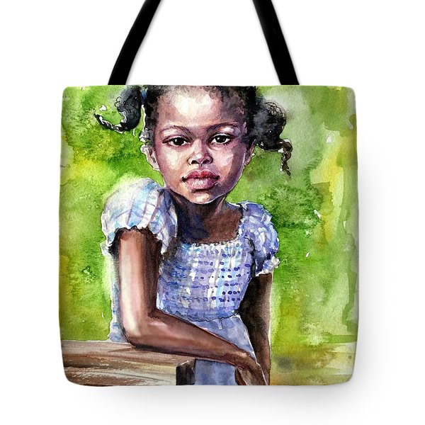 The Girl On The Veranda Tote Bag