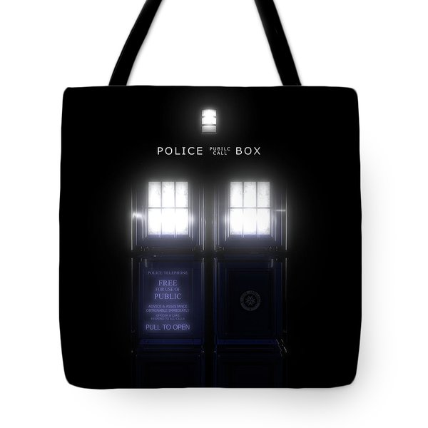 The Glass Police Box Tote Bag