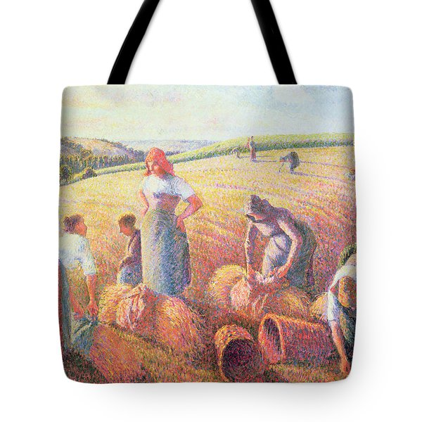 The Gleaners Tote Bag by Camille Pissarro