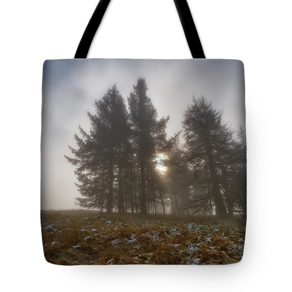 Tote Bag featuring the photograph The Gloomy Sunrise by Jeremy Lavender Photography