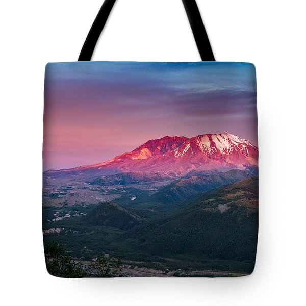 The Glow At Mt St Helens Tote Bag by Ken Stanback