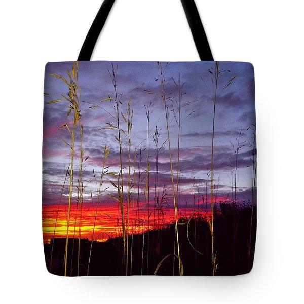 Tote Bag featuring the photograph The Glow by John Hartman