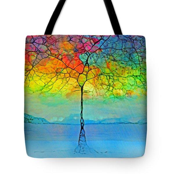 The Glow Tree Tote Bag