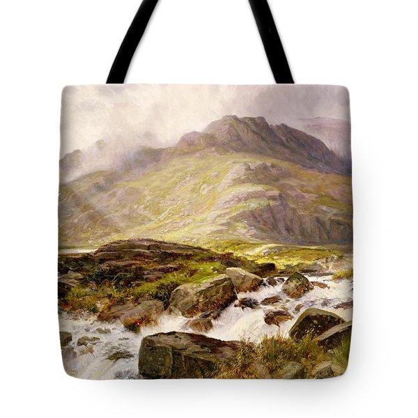 The Glyder Fawr  Tote Bag by Edwin Pettitt