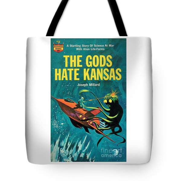 Tote Bag featuring the painting The Gods Hate Kansas by Jack Thurston