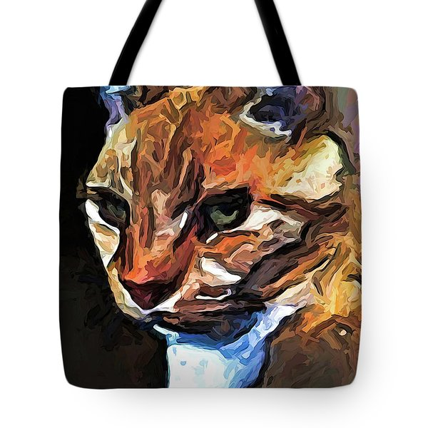 The Gold Cat With The Stage Presence Tote Bag