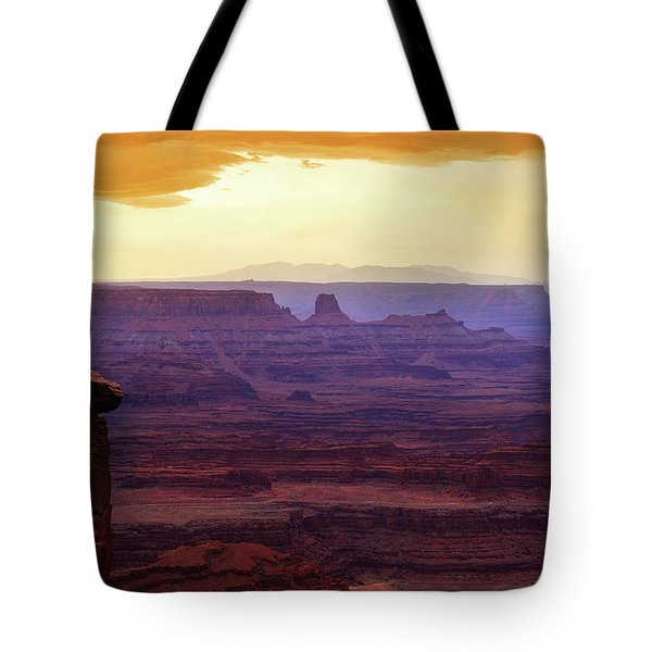 The Gold Light Of Dawn Tote Bag
