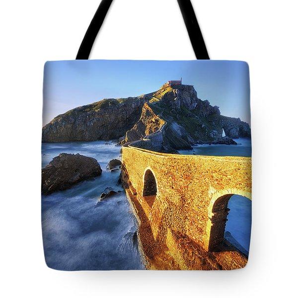 The Golden Bridge Tote Bag