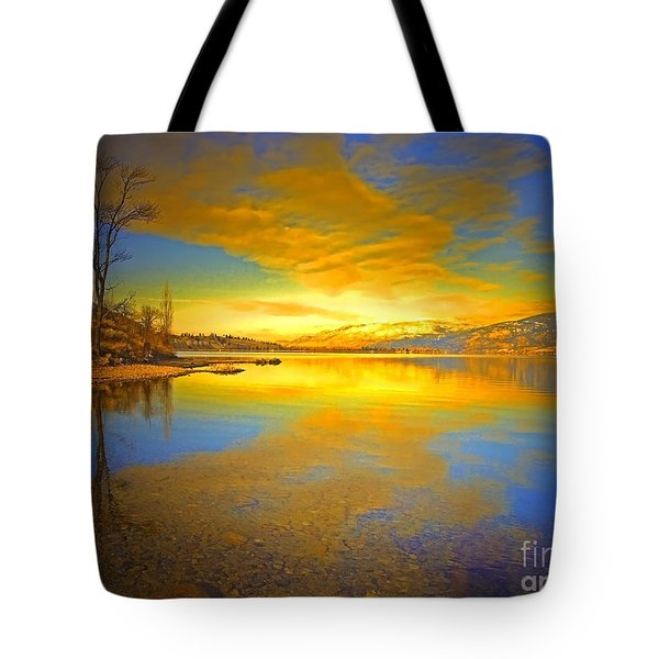 The Golden Clouds Of Winter Tote Bag