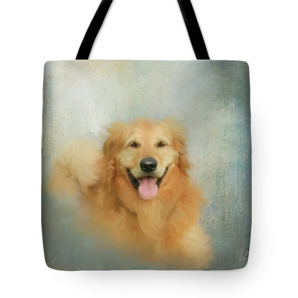 Tote Bag featuring the mixed media The Golden by Colleen Taylor