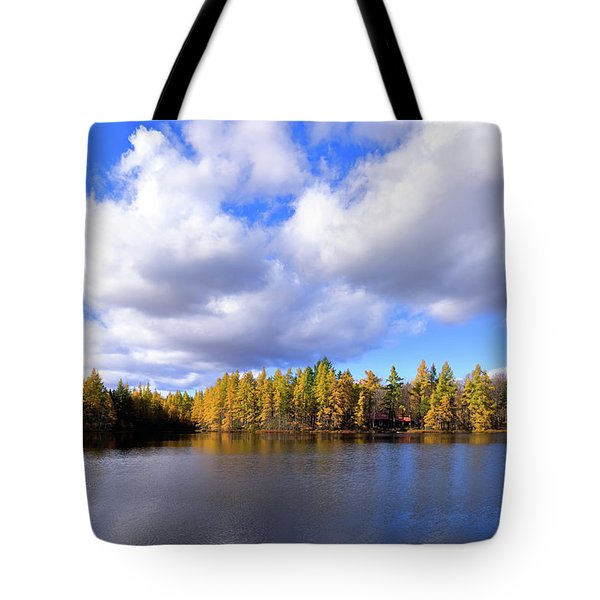 Tote Bag featuring the photograph The Golden Forest At Woodcraft by David Patterson