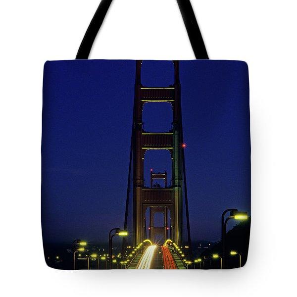 The Golden Gate Bridge Twilight Tote Bag